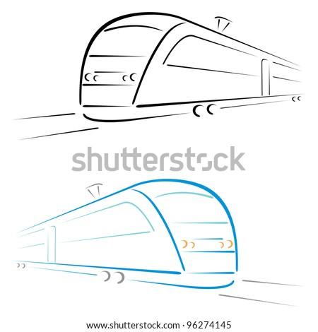 Train symbol - stock vector