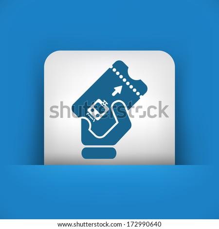 Train ticket icon - stock vector