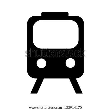 Train, underground, tram isolated icon on white background. Vector illustration. - stock vector