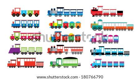 train vector - stock vector