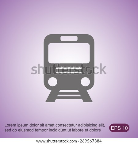 Train vector icon - stock vector