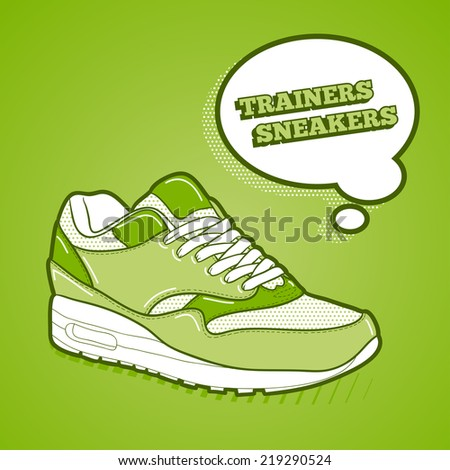 Trainers sneakers - stock vector