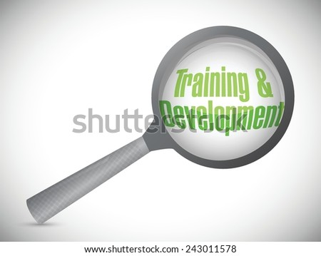 training and development under review illustration design over a white background - stock vector