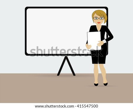 Training and presentation, seminar, learning symbol. The teacher icon. Vector illustration - stock vector