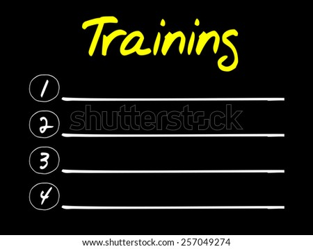 TRAINING blank list, business concept - stock vector