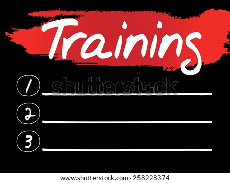 Training Blank List, vector concept background - stock vector