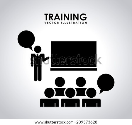 training design over gray background vector illustration