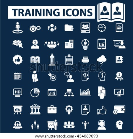 training icons  - stock vector