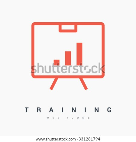 training isolated minimal single flat linear icon. Line vector icon for websites and mobile minimalistic flat design. Modern trend concept design style illustration symbol - stock vector