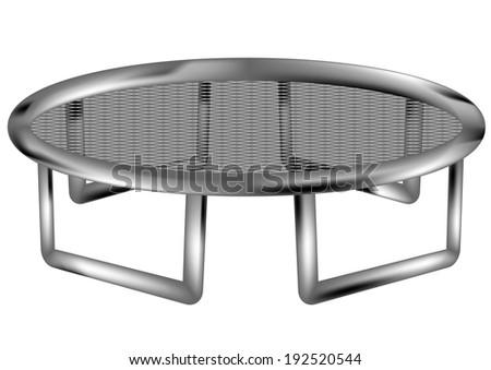 trampoline - stock vector
