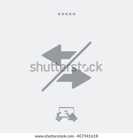 Transfer or sharing icon - stock vector