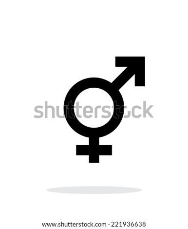 Transgender icon on white background. Vector illustration. - stock vector