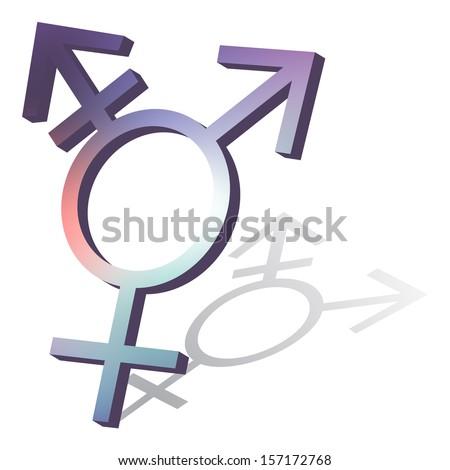 Transgender symbol - stock vector