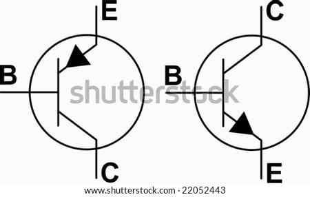 transistor npn pnp symbols vector  uc2a4 ud1a1  ubca1 ud130 22052443
