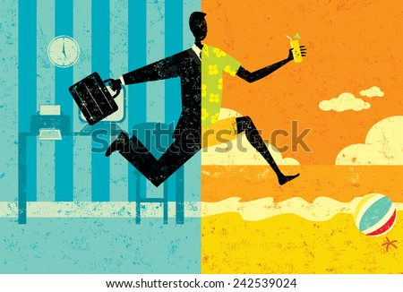 Transition to Vacation - stock vector