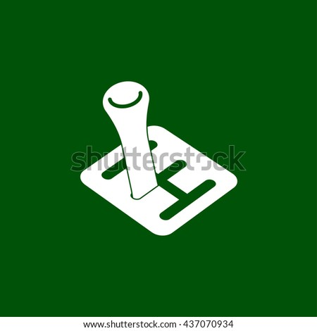 transmission icon. shifter sign - stock vector
