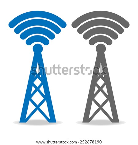 transmitter icon on white background vector - stock vector