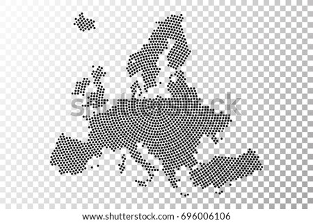 Transparent abstract europe map radial dot stock vector 696006106 transparent abstract europe map radial dot planet lines global world map halftone concept gumiabroncs Images