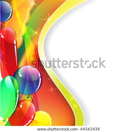 Transparent balloons on a bright background