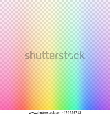 Transparent Blurred Rainbow Background Colored Vector Illustration On
