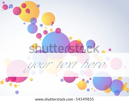 Transparent bubble banner, horizontal. Includes transparencies (eps10); jpg version also available - stock vector
