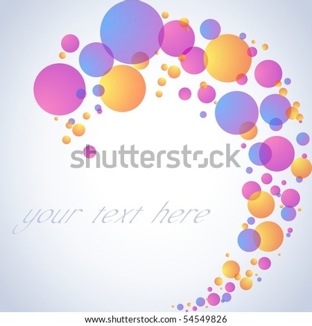 Transparent bubble swirl. Includes transparencies (eps10); jpg version also available - stock vector