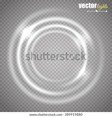 Transparent circle glow banner or frame. Glow effect. Vector eps10 - stock vector