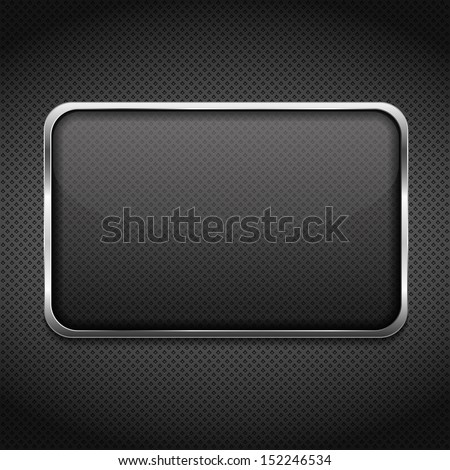Transparent glass frame on dark background, vector eps10 illustration - stock vector