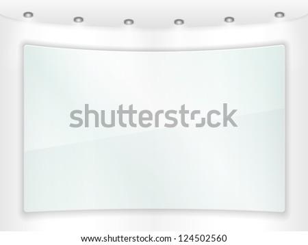 Transparent glass frame, vector eps10 illustration - stock vector