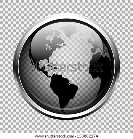 transparent globe - stock vector