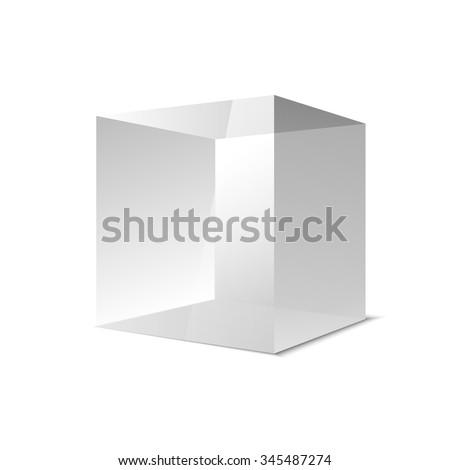 transparent gray glass cubes, vector eps10 illustration art - stock vector
