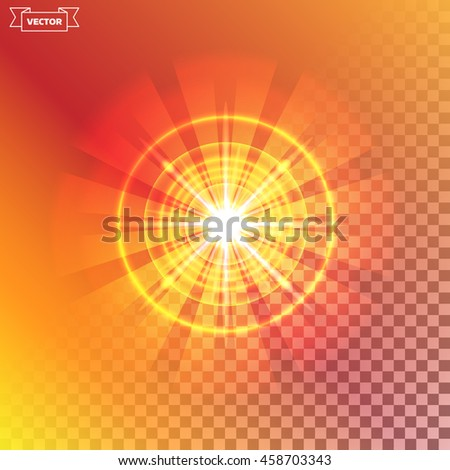 Transparent light effect. Vector illustration. Can be used for web design, wallpapers, futuristic designs and banners.