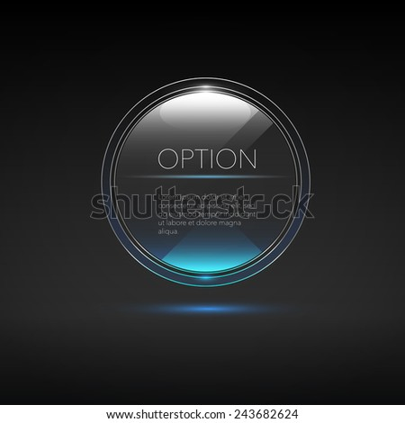 transparent modern button for web design. eps 10