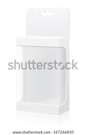 transparent packing box vector illustration isolated on white background