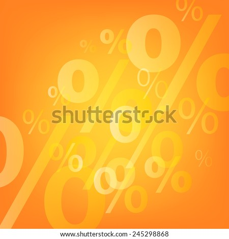 Transparent percents signs abstract background. Sale advertising template. - stock vector
