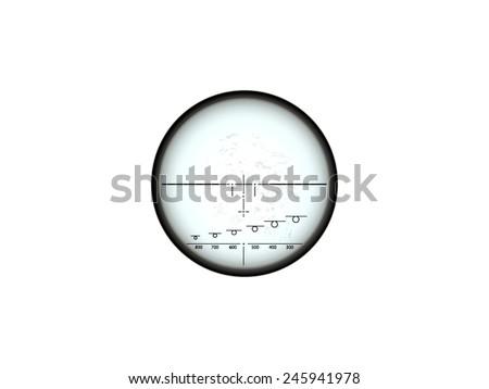 Transparent scope - stock vector