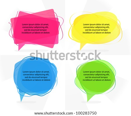 Transparent speech bubbles - stock vector