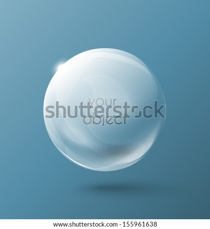 Transparent sphere - stock vector