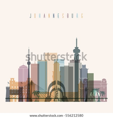 Johannesburg skyline stock images royalty free images vectors transparent style johannesburg skyline detailed silhouette trendy vector illustration thecheapjerseys Choice Image