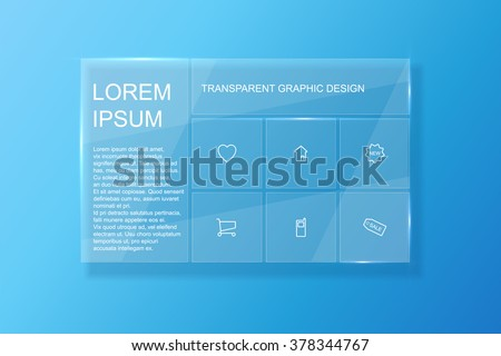 Transparent web design. Website design. Eps10