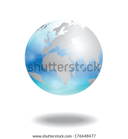 transparent world icon vector