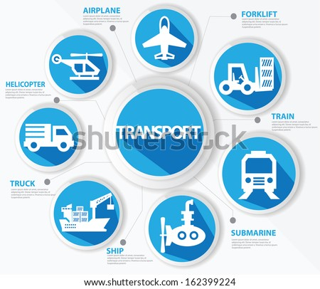 Transport and logistics concept,Blue version,vector - stock vector