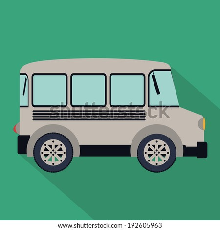 Transport design over green background, vector illustration
