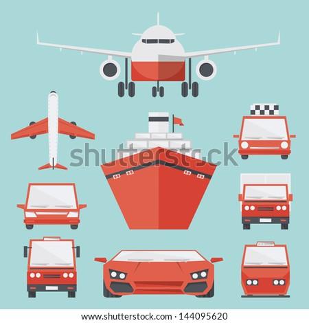 transport icon minimal design, vector - stock vector