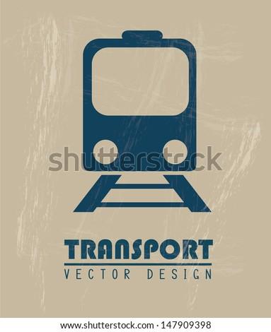 transport icon over beige background vector illustration  - stock vector