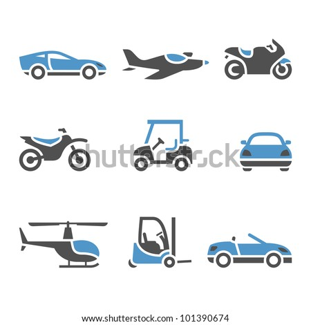 Transport Icons - A set of four - stock vector