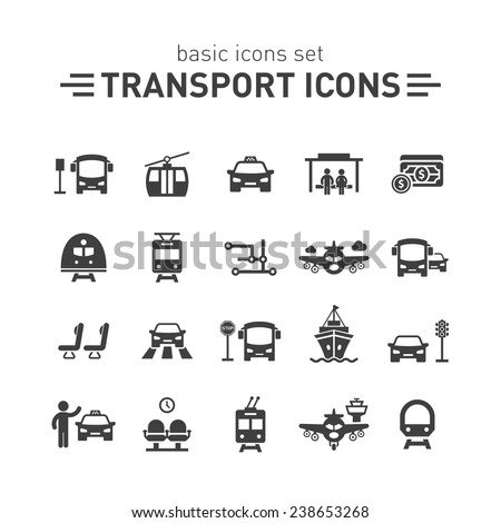 Transport icons set. - stock vector