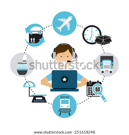 transport logistics design, vector illustration eps10 graphic  - stock vector