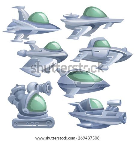 Transport of the future. SiFi vehicles. Vector eps 10. - stock vector