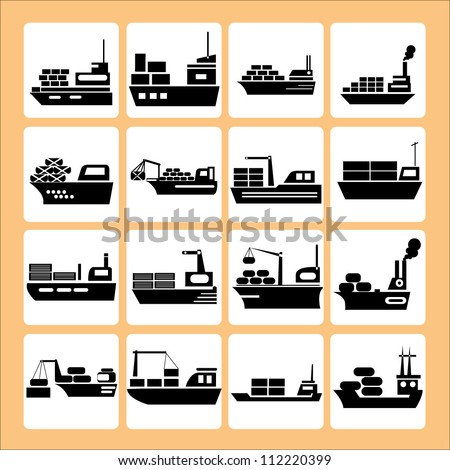 transport, ship, vessel set